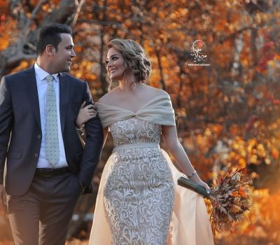 عکاسی عروس در فضای باز کرج