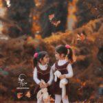 عکاسی فضای باز / فضای باز عکس پاییزی کودک/ ژست عکس پاییزی کودکانه/