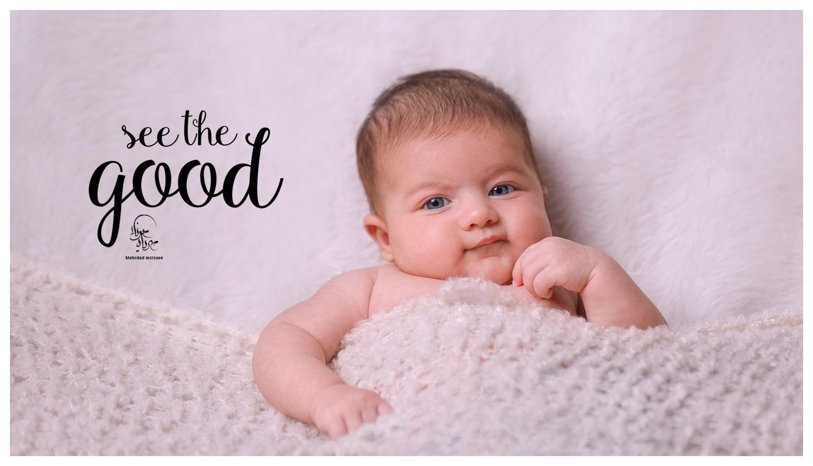 آتلیه کودک در کرج/ عکس کودک / آتلیه کودک /بهترین آتلیه کودک در کرج/ ایده عکس نوزاد با حوله/