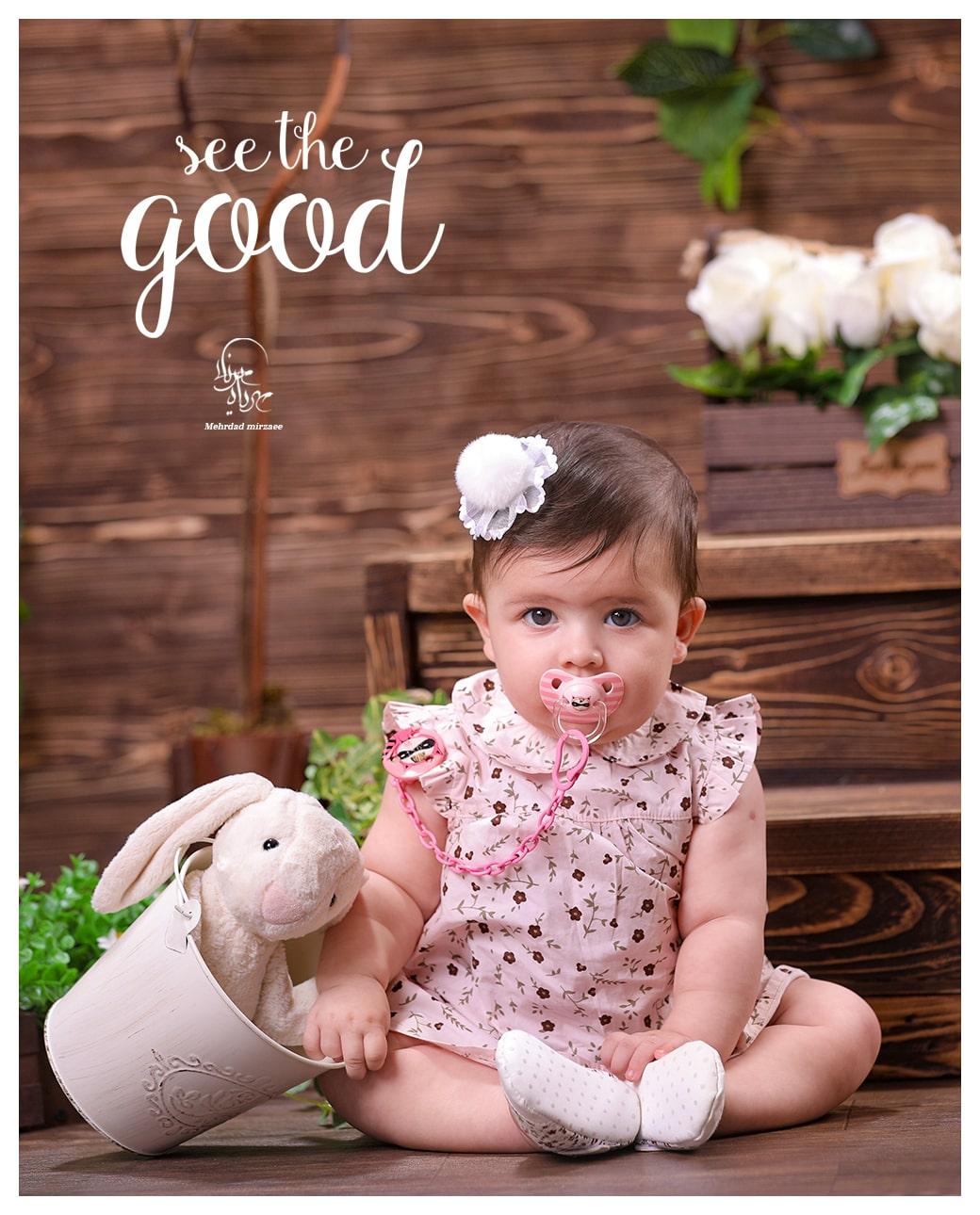 آتلیه تخصصی کودک در کرج / بهترین آتلیه کودک در کرج /ژست عکس کودک دختر /