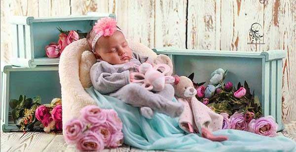 عکاسی کودک در خواب در کرج